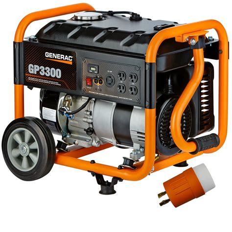 generac gp3300 gas powered 3 300 watt portable generator