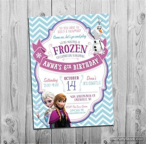 printable invitation frozen 157 best frozen birthday party images on pinterest