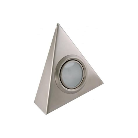 triangular under cabinet kitchen lights sensio triangle light lv 20w stainless steel under cabinet light at lovelights co uk