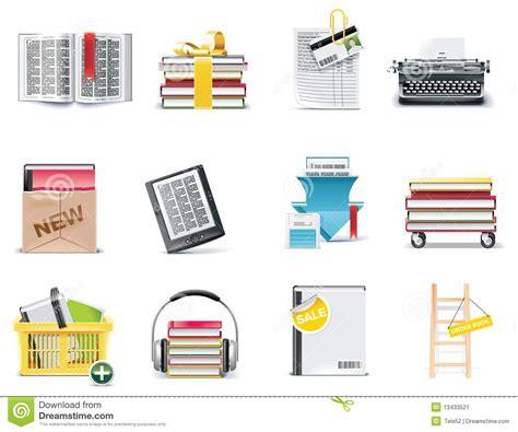 libreria di libro in libro insieme dell icona della libreria di vettore e della