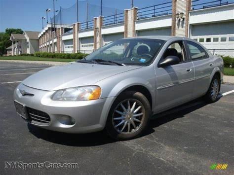 2001 chrysler sebring sedan 2001 chrysler sebring lxi sedan in bright silver metallic