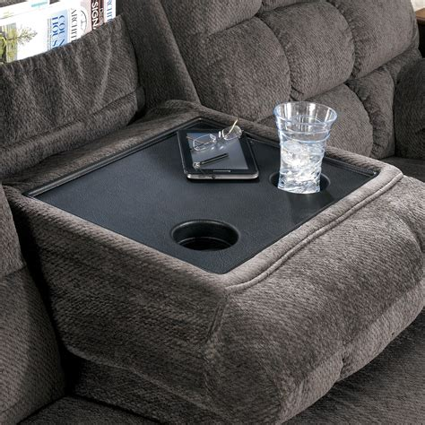 reclining sofa with cup holders reclining sectional sofa with right loveseat cup