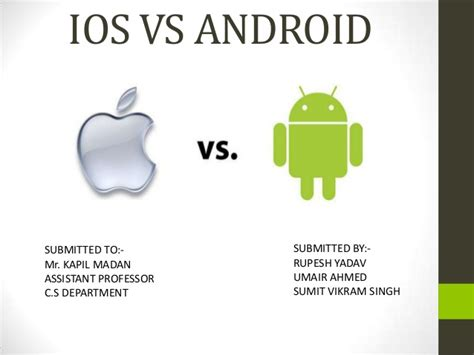 difference between apple and android ios vs android