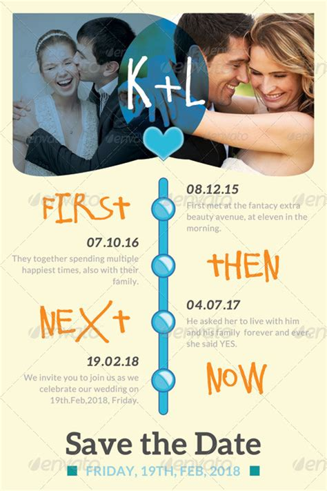 Save The Date Timeline Template timeline wedding save the date template by katzeline graphicriver