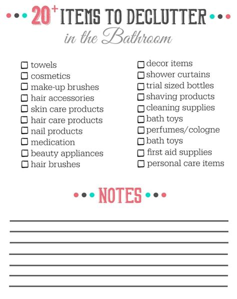 declutter bedroom checklist 20 things to declutter from the bathroom clean and