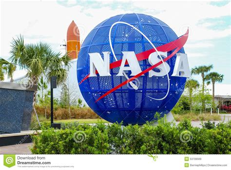canaveral visitor center nasa kennedy space center editorial stock image image