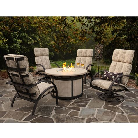 firepit set patio set with firepit table agio corseca 7 bar set with