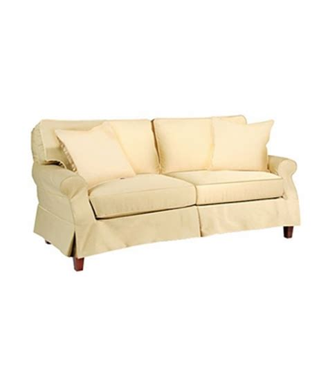 modern slipcovered sofa mini modern slipcovered skirted sofa club furniture