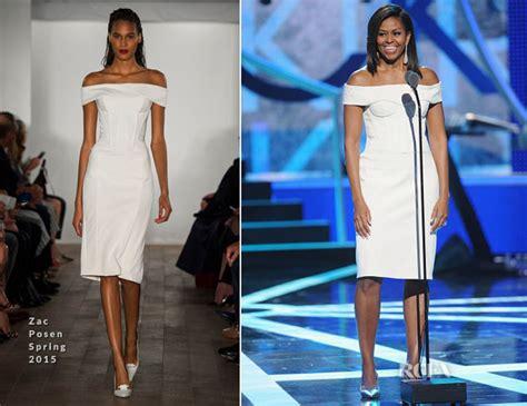 michelle obama zac posen dress michelle obama red carpet fashion awards
