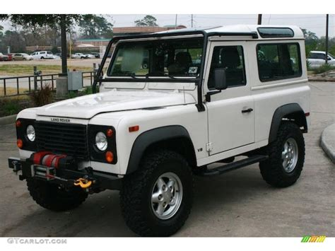 1995 land rover defender interior alpine white 1995 land rover defender 90 hardtop exterior