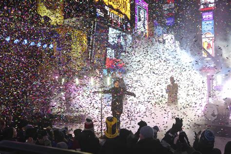 new year parade hours photos new year s celebrated in new york city s times
