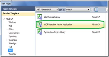 wcf workflow service application tutorial wcf tools in vs2010 beta2 introducing new features and
