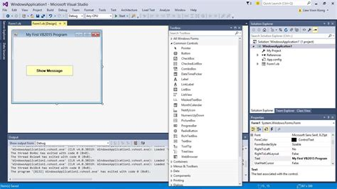 gambar desain visual basic tutorial visual basic visual basic 2015 pelajaran 1