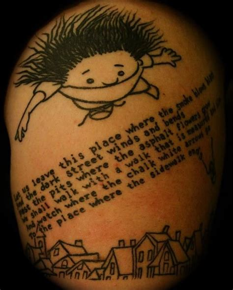 my tattoo shop hollywood my arm is dedicated to my childhood shel silverstein was