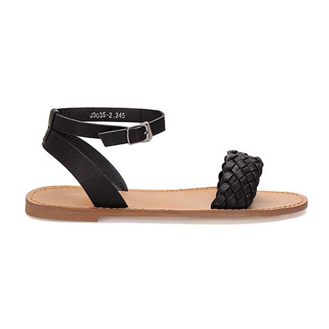 woven sandals for black woven across ankle flat sandals us 27