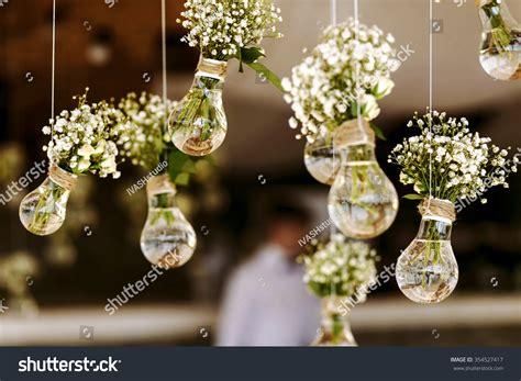 Original Wedding Photos by Original Wedding Floral Decoration Form Minivases Stock