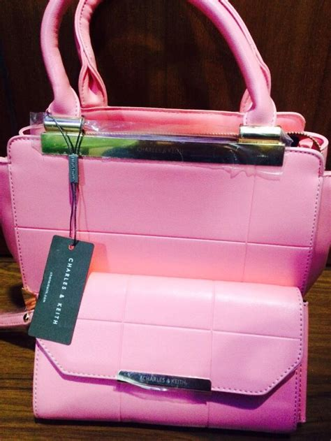 Tas Charles Keith Set Pouch Pink 54 charles and keith bags bags handbags brands charles and keith bags