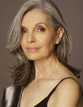 medium gray hair long bangs 49 best hairstyles for women over 50 images on pinterest