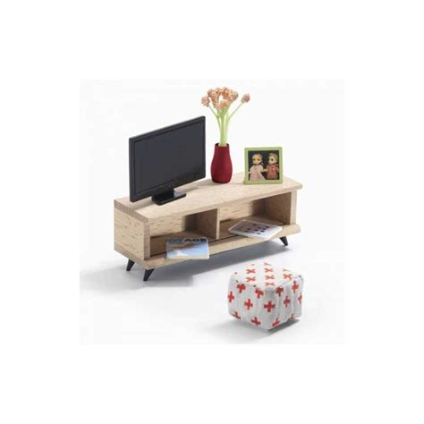 dollhouse living room furniture living tv room dollhouse furniture accessory djeco dj07827