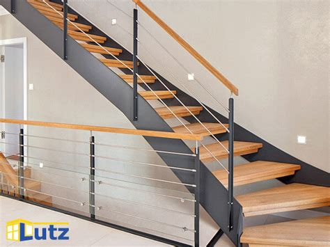 geländer aus holz treppe handlauf idee