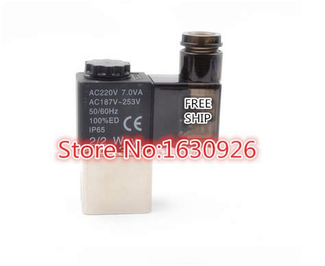 aliexpress order closed free shipping 2v025 06 220v ac 2port 2pos 1 8 quot bsp