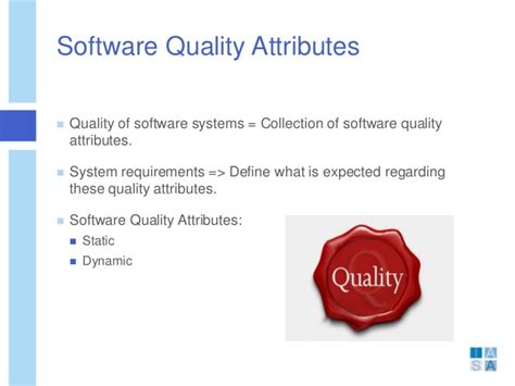 software design quality guidelines and attributes software quality attributes