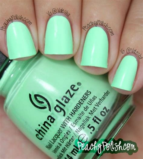 Mint Green Nail Polishes by China Glaze Quot Highlight Of My Summer Quot Peachy P