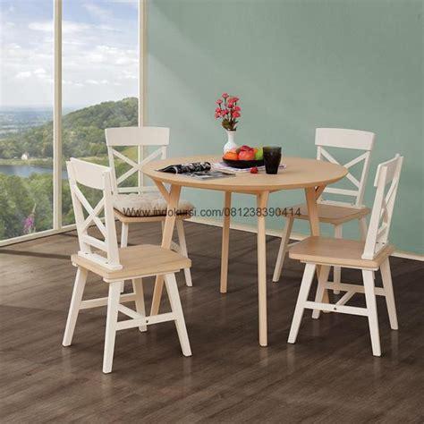 Meja Bundar Lipat kursi makan minimalis silang model meja bundar indo