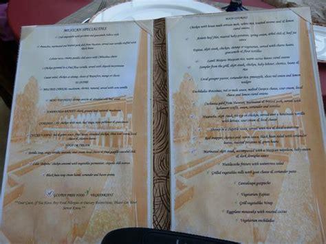 el patio menu picture of secrets maroma riviera