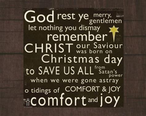 songs of comfort christian god rest ye merry gentlemen printable 8x8 christmas