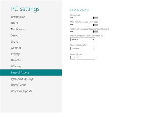 unable to access pc settings in windows 8 1 microsoft windows 8 pc settings complete guide