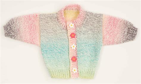 cardigan pattern worsted weight baby sweater in plymouth encore worsted colorspun f168