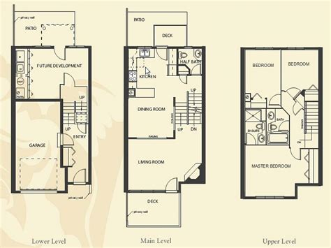 apartment house plans 4 bedroom apartment floor plans townhome building floor