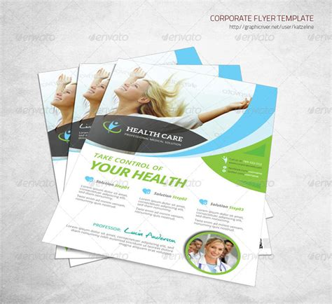 15 Premium Medical Flyer Templates For Printing Health Flyer Template