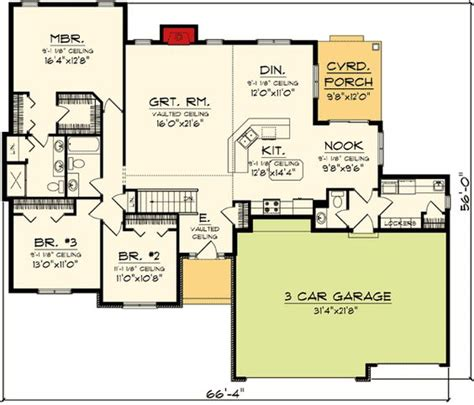 floor plans with bonus room ranch home plans ranch homes and home plans on pinterest