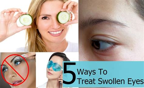 swollen eye home treatment how to treat swollen top diy health home remedies