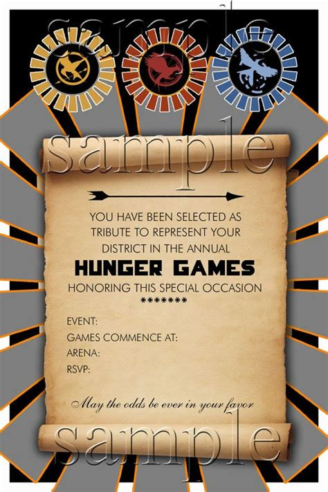 hunger games underlying themes hunger games party invitation by bookishways on etsy 12