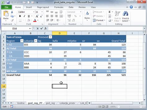 report layout excel 2010 abc microsoft excel 2010 pivot tabela pivot table