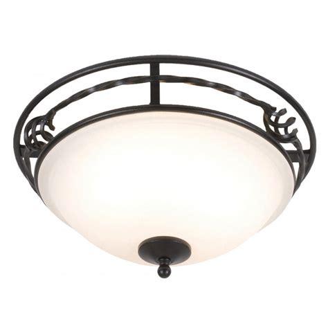 Flush Lighting For Low Ceilings Circular Pembroke Flush Fitting Traditional Ceiling Light Black Border
