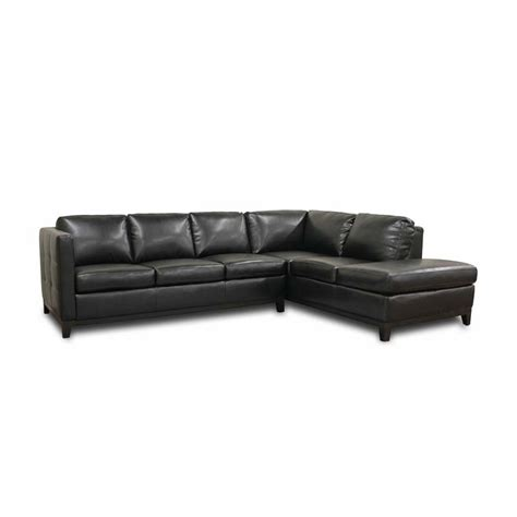 Wholesale Leather Couches by Wholesale Interiors Rohn Modern Black Leather Sectional Sofa 3166 Sofa Chaise Du013 L016