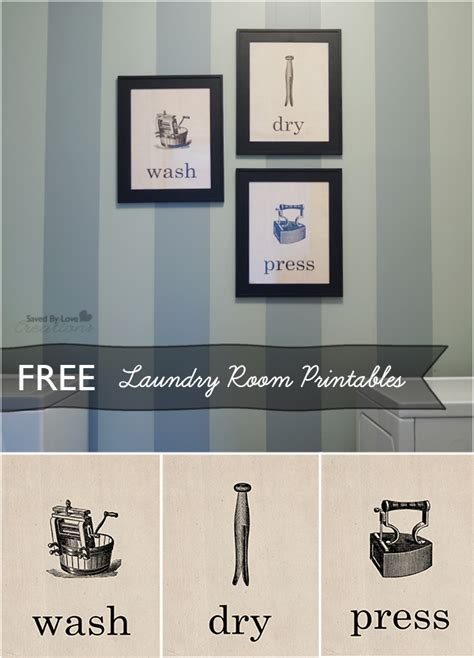 Free Printable Laundry Wall Art | free vintage laundry room printables printable decor