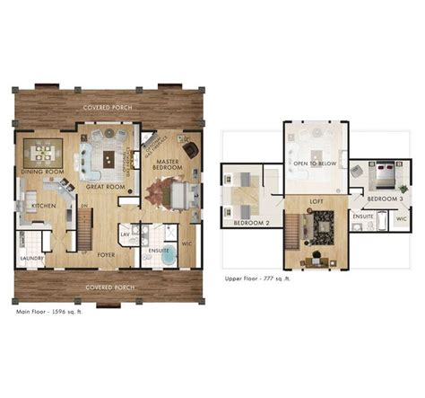 beaver homes and cottages prescott floor plan log