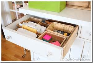 Kitchen Drawer Organizing Ideas Organizing Drawers And More With Baskets In My Own Style