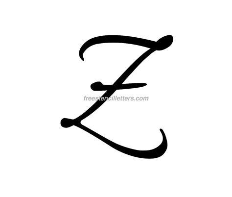z s print z letter stencil free stencil letters