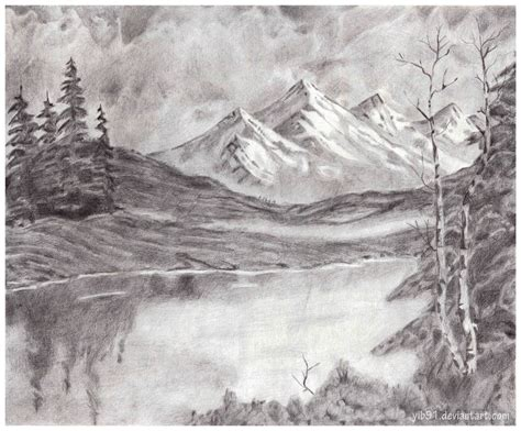pencil sketch designs photos pencil sketches of sceneries mountain landscape by yib91 deviantart on deviantart drawing tips