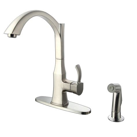 glacier bay kitchen faucets glacier bay single handle standard kitchen faucet with side sprayer in stainless steel be56u02nx