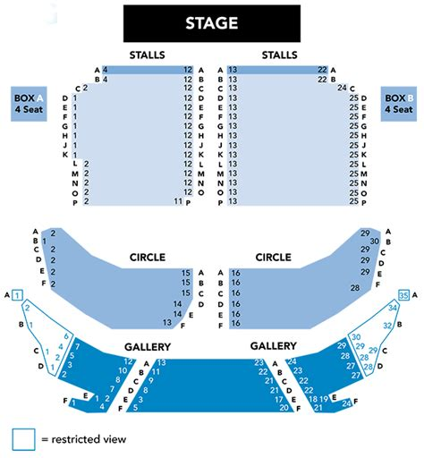 lyceum theatre floor plan seating plan crewe lyceum theatre
