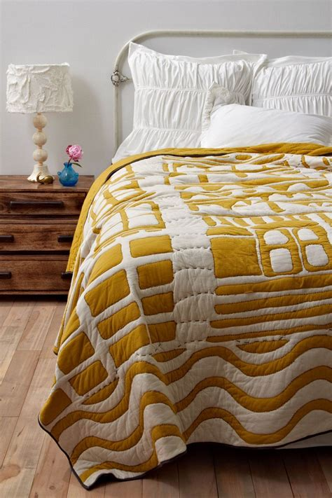Mustard Bedding by Mustard Yellow Anthropologie Quilt Room Decor