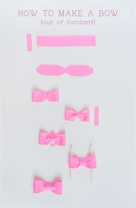 How To Make A Bow Tie Out Of Paper - fondant bow tutorial sprinkles for breakfast