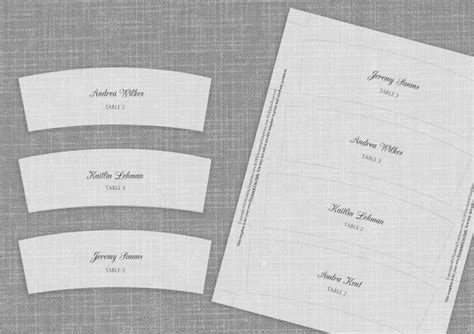 wrap template votive place card wrap template by karmakweddings